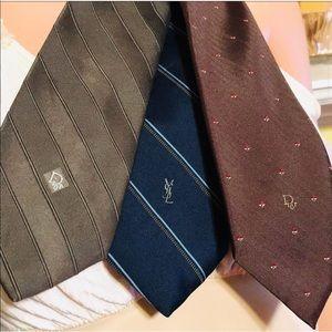 Vintage Designer Monogramed Neckties